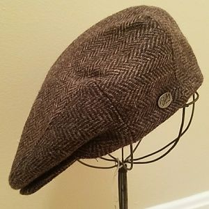 BAILEY of HOLLYWOOD BROWN WOOL PAPERBOY DERBY CAP
